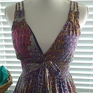 Olsenboye brightly colored Paisley summer dress